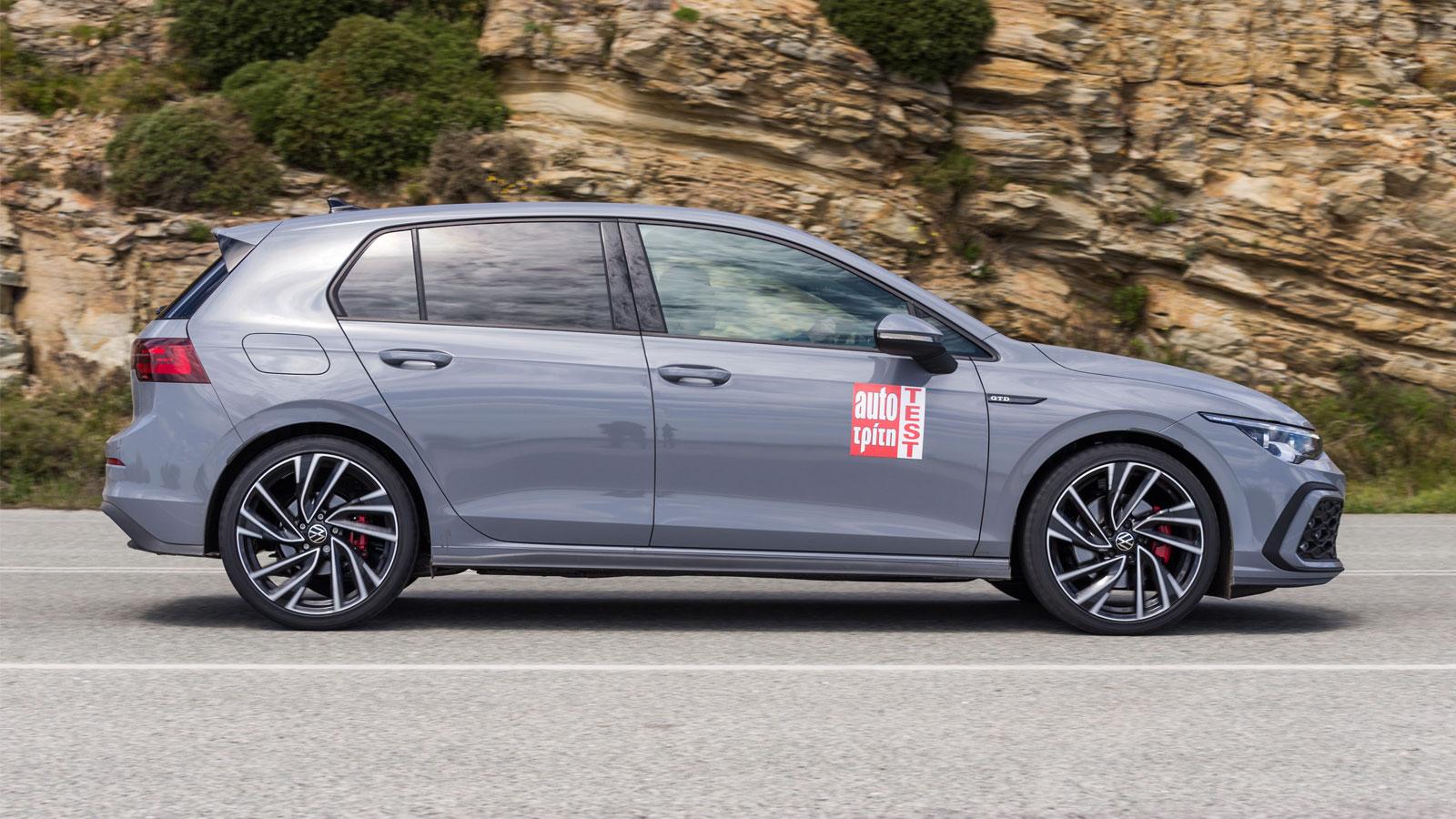 Η εξαιρετική οδηγική αίσθηση  του VW Golf GTD ενισχύεται από το επίπεδο προφίλ πέλματος που διαθέτει το Sport Μaxx RT2, όπως όλα τα νέα ελαστικά της Dunlop.