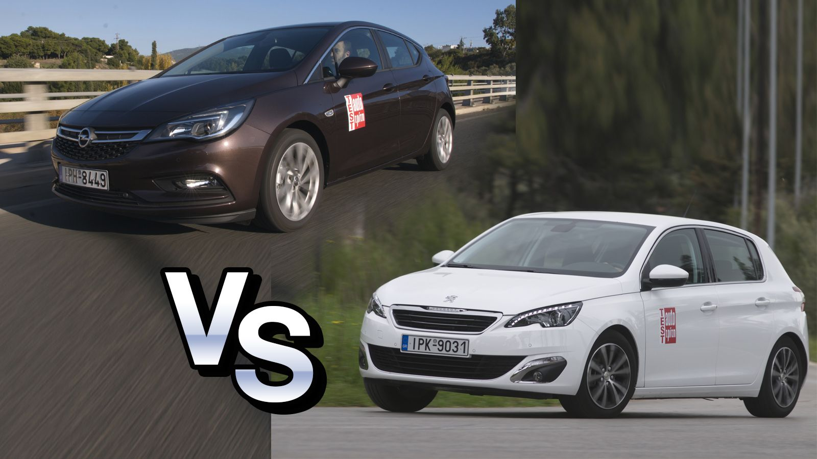 Peugeot 308 vs Opel Astra - opel astra