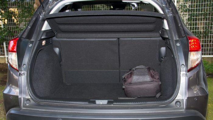 Το HR-V κατατάσσεται στην 3η θέση ανάμεσα στα 17 μοντέλα της κατηγορίας στον χώρο αποσκευών.