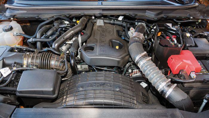 O ισχυρός diesel κινητήρας του Ranger Wildtrak συνδυάζεται υποδειγματικά με το νέο αυτόματο κιβώτιο 10 σχέσεων της Ford, αναδεικνύοντας τον πολιτισμένο αλλά και ικανό του χαρακτήρα.