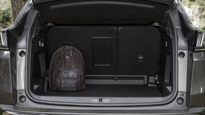 Ο χώρος αποσκευών του Peugeot 3008 είναι από τους μεγάλους της κατηγορίας με 508 λίτρα