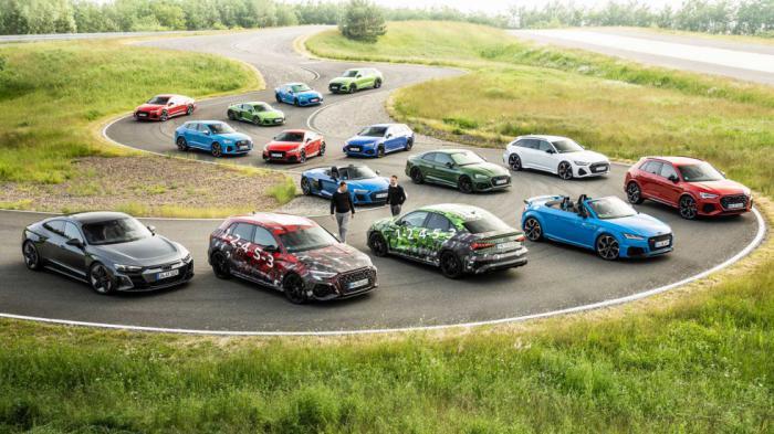 Ολόκληρη η RS γκάμα της Audi.