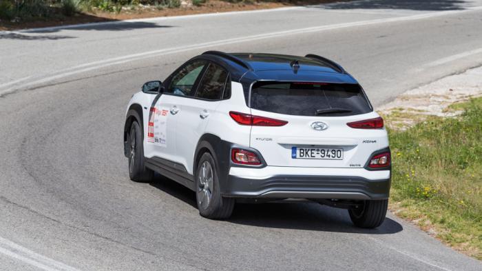 Τον… ατελείωτο έχει η μπαταρία του ηλεκτρικού Hyundai Kona. H αυτονομία στην πόλη ξεπερνά τα 500 χλμ. με μία μόνο φόρτιση.