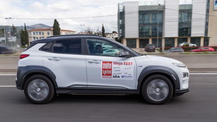 Η Sport λειτουργία μπορεί να αδειάζει πιο γρήγορα την μπαταρία, αλλά ταιριάζει στην ευχάριστα σφιχτή οδηγική αίσθηση, στην ακρίβεια και στη ζωντάνια των επιταχύνσεων που εμφανίζει το Kona Electric.