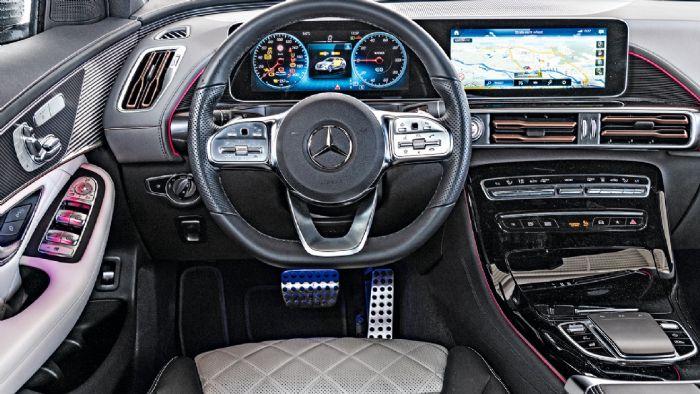 Υψηλής ποιότητας υλικά με πολύ καλή ποιότητα επεξεργασίας, δηλαδή μια τυπική Mercedes. Το λειτουργικό σύστημα MBUX είναι ένα από τα καλύτερα στην αγορά.