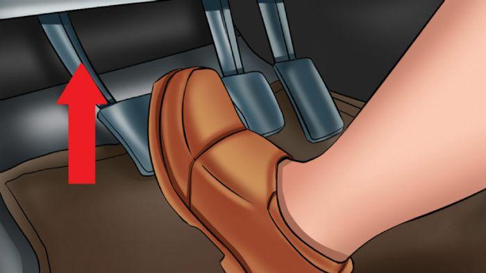 Όταν κρατάτε πατημένο τον συμπλέκτη προκαλείτε φθορά στο ρουλεμάν του και στο βολάν.