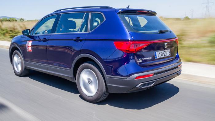 Το SEAT Tarraco ξεχωρίζει οδηγικά για τον σφιχτό και ευχάριστο χαρακτήρα του στην σβέλτη κίνηση, προσφέροντας καλύτερη οδηγική αίσθηση.