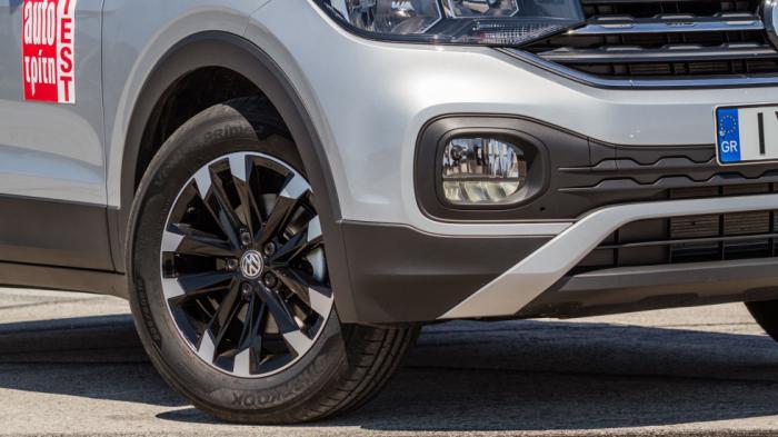 Tο T-Cross σχεδιαστικά θυμίζει πιο κλασσικό SUV αμάξωμα