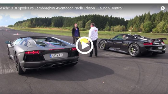 porsche 918 spyder vs lambo aventador. Black Bedroom Furniture Sets. Home Design Ideas