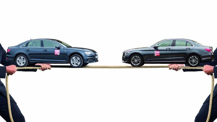 Ποιο είναι καλύτερο; Το νέο Audi A4 ή η Mercedes C-Class;