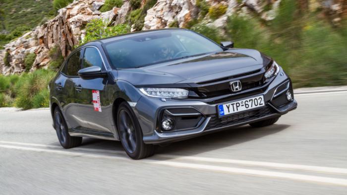 Εξαιρετική επίδοση καταφέρνει και το Honda Civic, αφού στην έκδοση με τον 1.000άρη turbo κινητήρα ακινητοποιείται από τα 100 χλμ./ώρα σε 34,3 μέτρα.