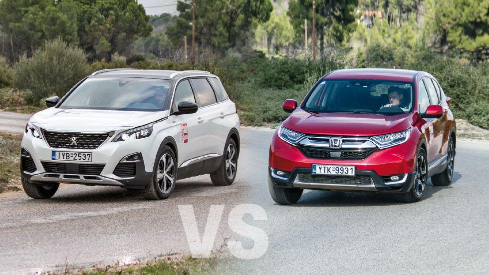Honda CR-V vs Peugeot 5008