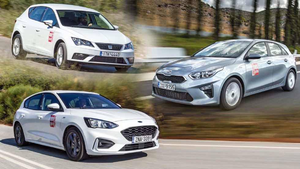 Ford Focus VS Kia Ceed VS SEAT Leon