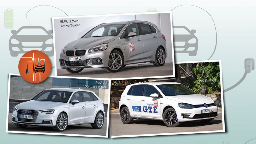 A3 SΒ e-tron Vs 225xe Active Tourer Vs Golf GTE