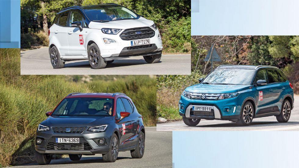 Ford EcoSport VS SEAT Arona VS Suzuki Vitara