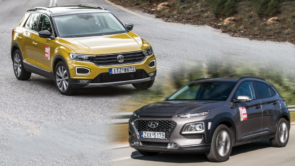 Hyundai Kona VS VW T-Roc