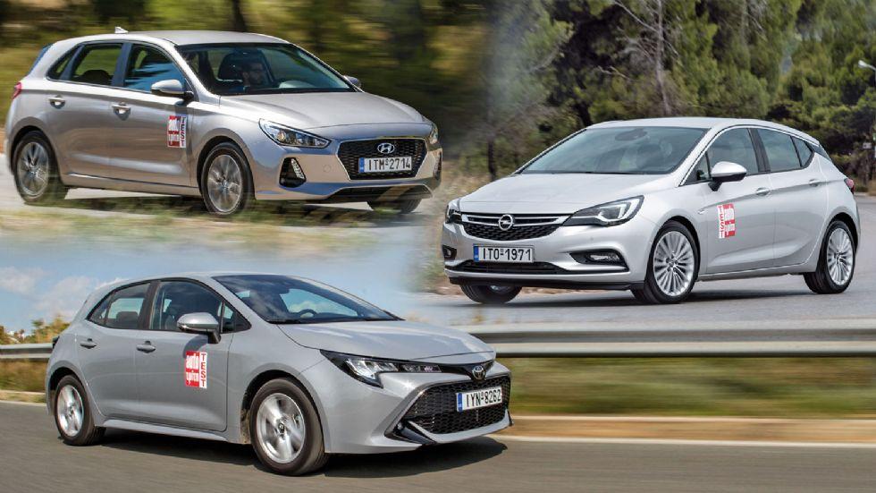 Nέα Toyota Corolla VS Hyundai i30 VS Opel Astra