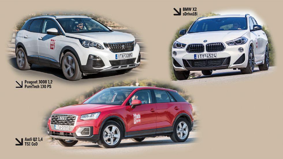 Audi Q2 VS BMW X2 VS Peugeot 3008