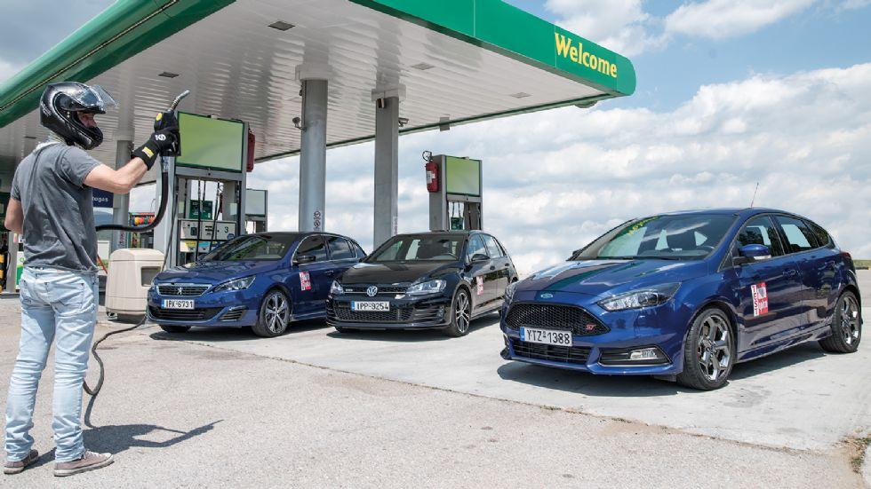 Ford Focus ST vs Peugeot 308 GT vs VW Golf GTD