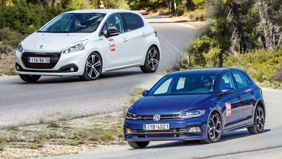 Peugeot 208 GT-Line VS VW Polo R-Line