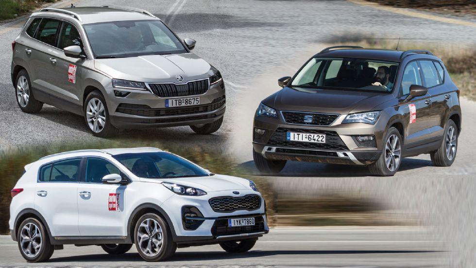 Kia Sportage VS SEAT Ateca VS Skoda Karoq