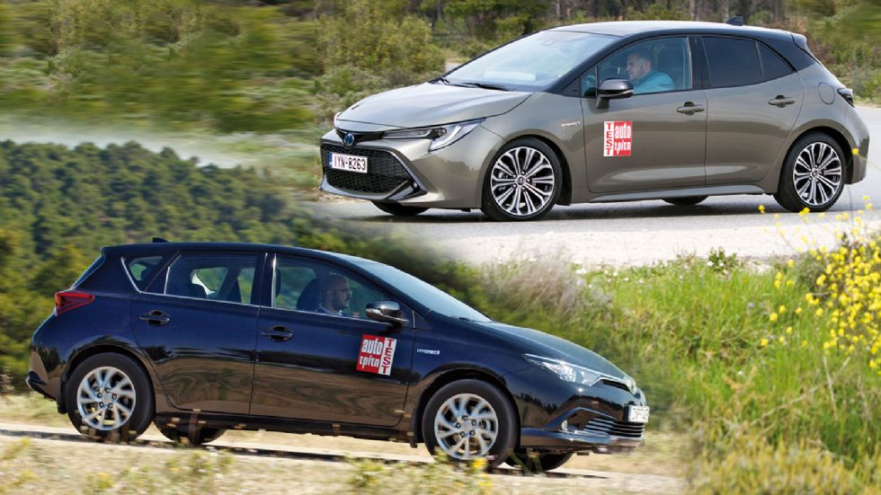 Η νέα Toyota Corolla Hybrid απέναντι στo Auris Hybrid