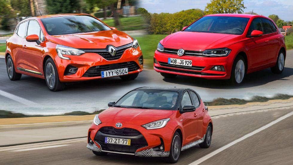 Το νέο υβριδικό Yaris απέναντι στα Clio LPG & Polo CNG