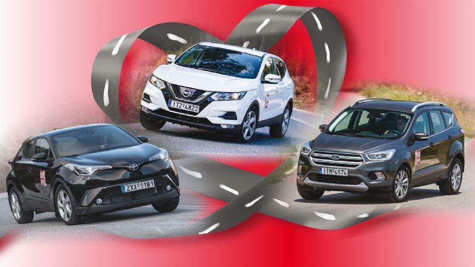 3 best seller SUV σε μάχη