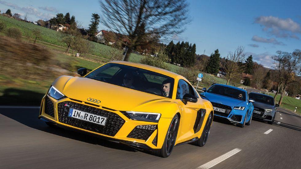 25 χρόνια Audi RS με R8, TT RS & RS3