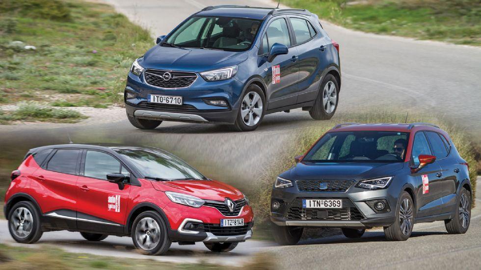 Opel Mokka X VS Renault Captur VS SEAT Arona