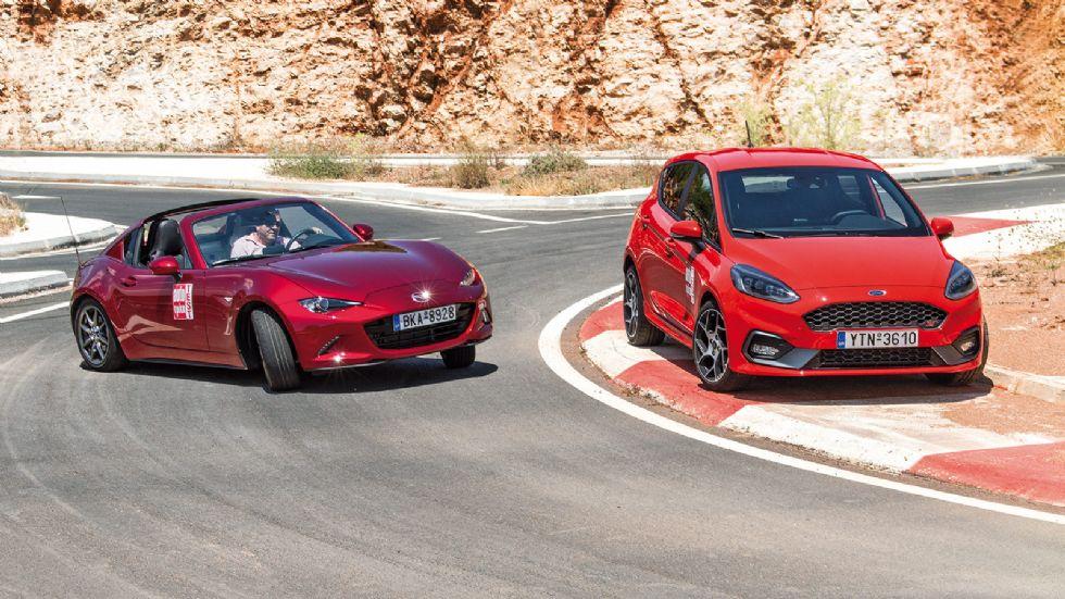 Παραλληλη δοκιμή: Ford Fiesta ST & Mazda MX-5 RF
