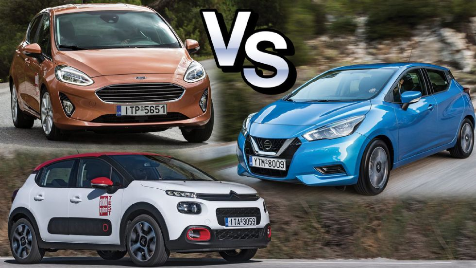 Citroen C3 VS Ford Fiesta VS Nissan Micra