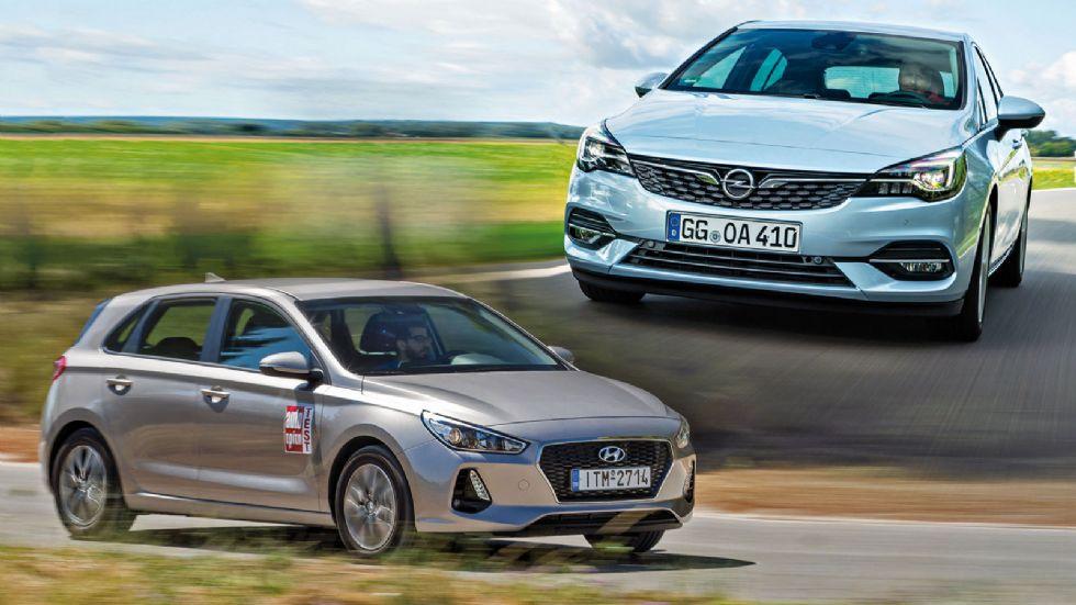Ανανεωμένο Οpel Astra VS Hyundai i30