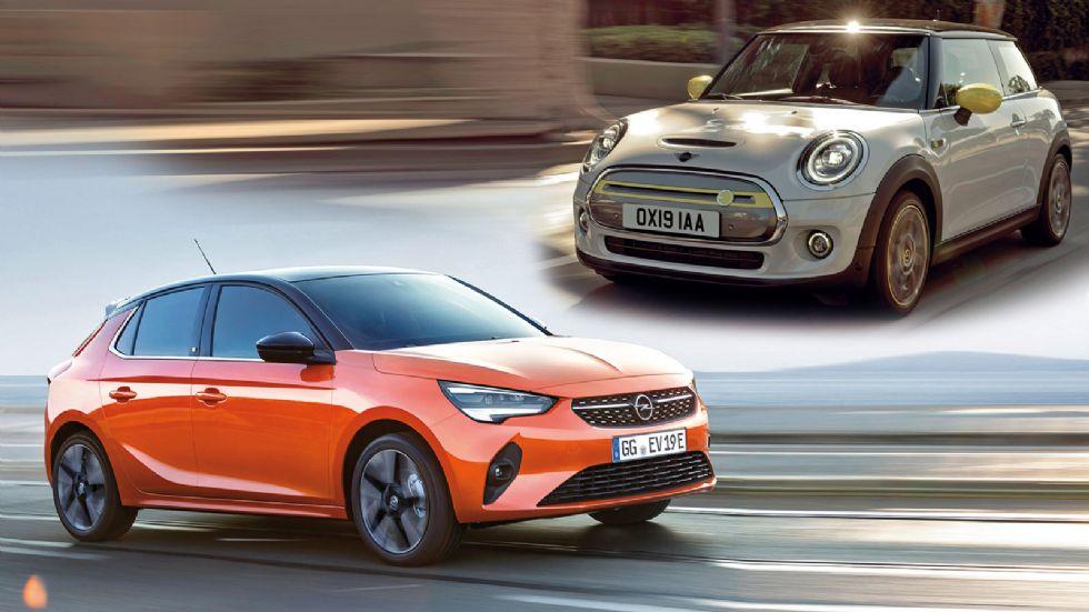 Opel Corsa-e VS MINI Cooper SE