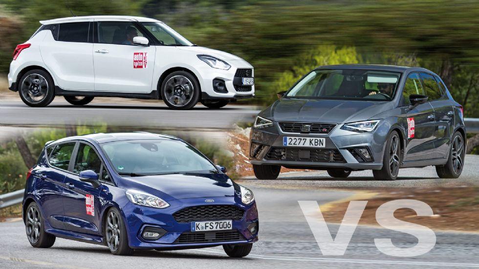 Fiesta ST-Line VS Ibiza FR VS Swift Sport