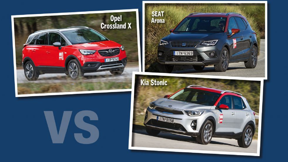Kia Stonic Vs Opel Crossland X Vs SEAT Arona