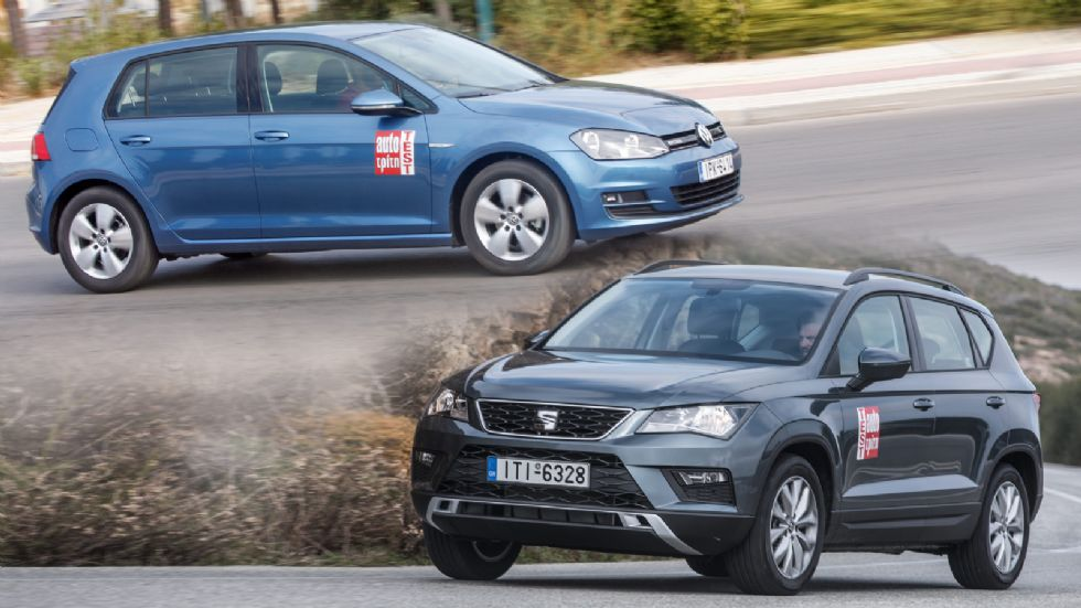 SEAT Ateca Vs VW Golf