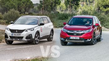 Honda CR-V vs Peugeot 5008