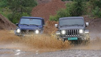 Μerc G 500 vs Jeep Wrangler