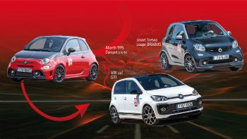 Abarth 595 Competizione VS smart BRABUS VS VW up! GTI