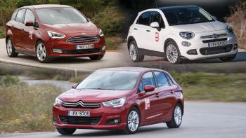 Citroen C4 Vs Fiat 500X Vs Ford C-MAX