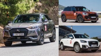 DS 3 Crossback vs Audi Q2 vs Mini Countryman