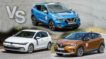 Nissan Qashqai Vs Renault Captur Vs VW Golf