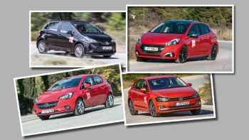 Toyota Yaris VS Peugeot 208 Vs VW Polo Vs Opel Corsa