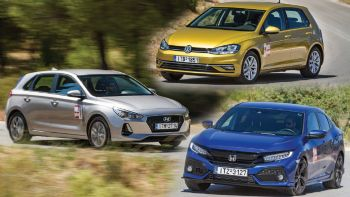 Honda Civic Vs Hyundai i30 Vs VW Golf