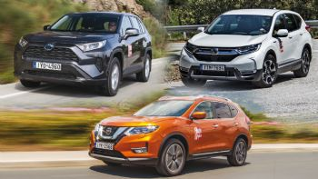 Honda CR-V Vs Nissan Χ-Trail Vs Toyota RAV4
