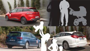 Renault Clio vs Honda Civic vs VW Passat