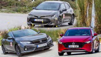 Honda Civic Vs Mazda 3 Vs Toyota Corolla