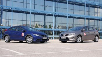 Honda Civic 1,4 vs Toyota Auris 1,33