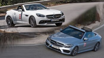 Test: Mercedes C 180 Cabriolet & SLC 180